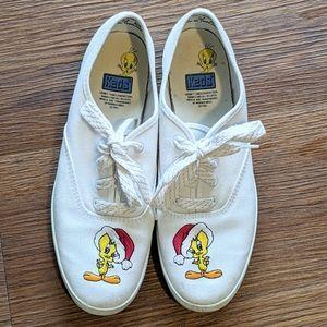 VTG Keds Santa Tweety 1993 tennis shoes